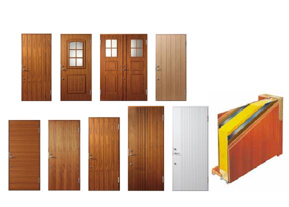 木製玄関サッシ